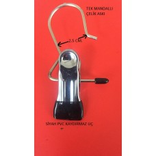 ASKI-METAL TEK KAYDIRMAZLI  MANDAL -  METAL HANGER WITH SINGLE CLIP ANTI-SLIP